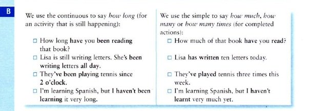 Present perfect and present perfect continuous
