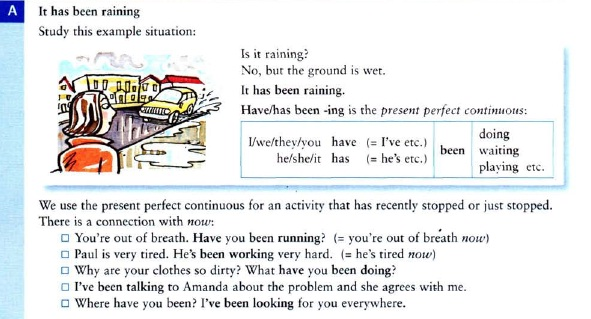 present perfect continuous правила