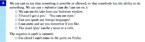 модальные глаголы CAN COULD