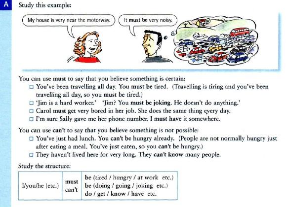 модальные глаголы must и can't