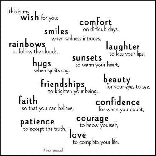 wishes for you - пожелания на английском