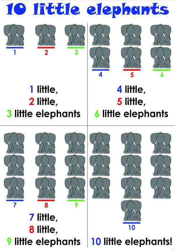 10 little elephants