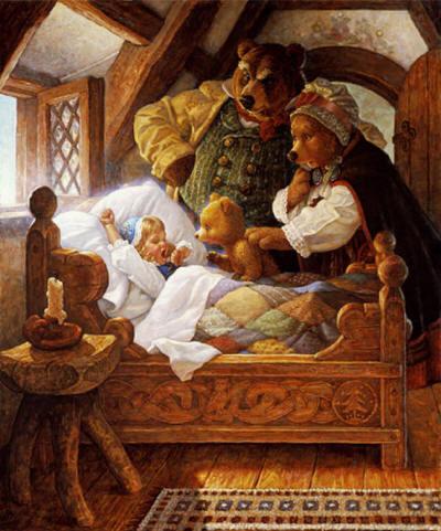 Сказки детям: The Three Bears — Три медведя