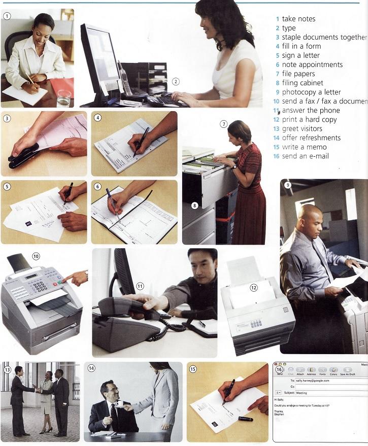 work in an office