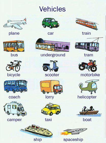 Весь транспорт на английском