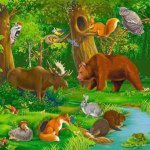 Животные на английском для детей. Animals for children