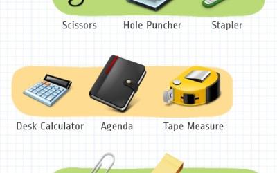 Канцелярские принадлежности на английском — Office Supplies (Stationery)