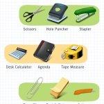 Канцелярские принадлежности на английском – Office Supplies