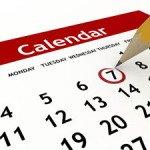 Английский словарь на тему КАЛЕНДАРЬ (дни недели, месяцы, сезоны)