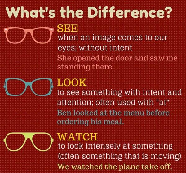 see look watch В чем разница