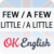 Как сказать «МАЛО» на английском? Квантификаторы little / a little, few / a few